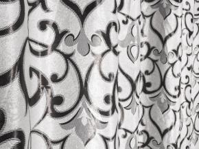 Ткань блэкаут T RS 2783-02/280 BL Jak графит на белом фоне, ширина 280см