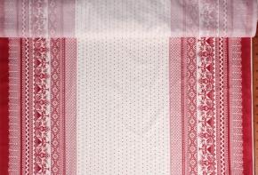 Ткань бельевая арт 06С-68ЯК п/лен набивной Вышивка сударыня на белом, 150см