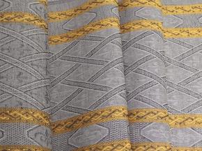 """Холст полотенечный арт. 21-16 """"Ромбы"""" желтый на сером, ширина 50см"""