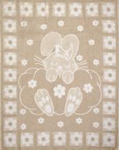 Одеяло хлопковое 100*140 жаккард 5/15 цвет бежевый