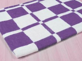 """Одеяло байковое 100*118 """"Клетка"""" цв. фиолетовый"""