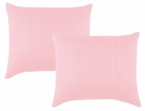 К-кт наволочек трикотажных (2 шт.) 70*70 цв. розовый