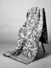 Одеяло п/шерсть 50% 140-205  жаккард Вензель  цвет серый