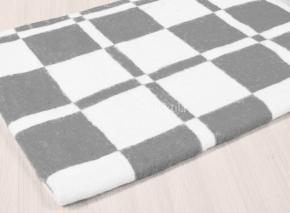 Одеяло байковое 90*100 клетка цв. серый
