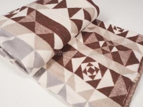 """Одеяло хлопковое 170*205 жаккард  4 """"Аляска"""" цв.коричневый"""