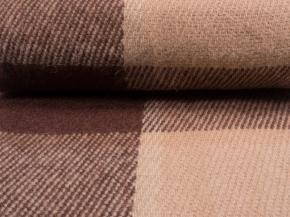 Плед 100% шерсть 170*200 рисунок 31.6 / 31.11 цвет бежево-коричневый