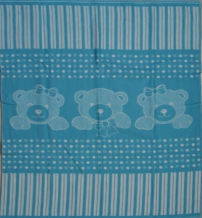 Одеяло хлопковое 90*100 жаккард 19/4 цвет бирюза