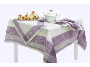 16с412-ШР / уп.150х150 Комплект столовый  Ажурная цв 3 серый с роз. рис 263