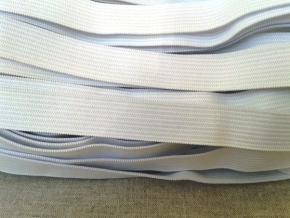Резинка вязаная 15мм, белая (рул.100м)