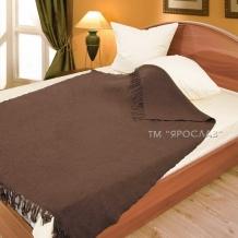 Плед из мериносовой шерсти 140*200 цвет коричневый
