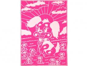Одеяло п/шерсть в/уп. 50% 100*140 жаккард цвет розовый