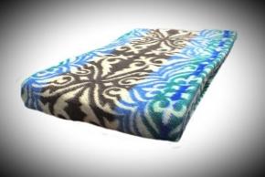 Одеяло хлопковое Эконом 140*205 жаккард 18.22 цвет синий с коричневым
