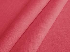 Ткань интерьерная 176099 п/лен гладкокрашеный рис.1059 Спелая вишня, ширина 150 см