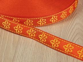 18мм. 06С3324-Г50 ЛЕНТА ОТДЕЛОЧНАЯ оранжевый с желтым 18мм (рул.50м)