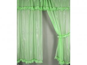 6С48-Г10 комплект штор (200*150)- 2 + ламбрекен 50*300 цв. зеленый