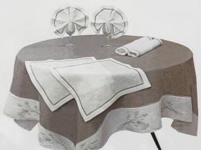 15с131-ШР/уп.180х180 Комплект столовый цвет серый с белым