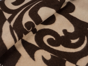 Одеяло п/шерсть 85% 170*205  жаккард цв 1 коричневый