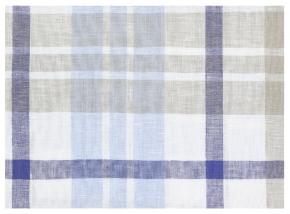 15с283-ШР 240*214 Простыня рис.6 клетка 1 серый с голубым