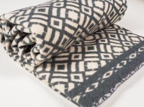 Одеяло п/шерсть 85% 170*205 жаккард цв 6 светло-серый