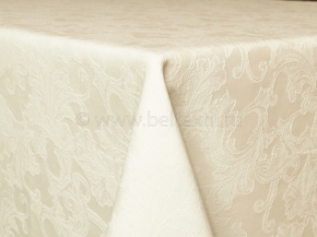 """Ткань скатертная арт.14С7SHT """"Мирелла"""" рис.004 цвет 110701 слоновая кость, ширина 310 см"""