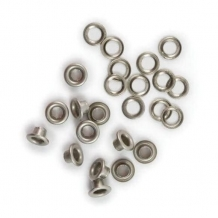 Люверсы д.6мм, никель (уп.5000шт)