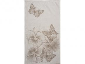 6с103.512ж2 50х90см Бабочки и цветы полотенце махровое Лен+х/б