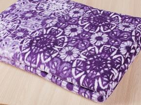 Одеяло байковое 140*205 жаккард цв. фиолетовый