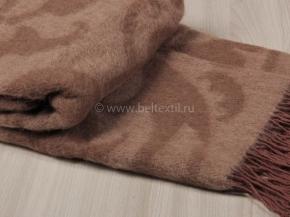 Плед 75% верблюжья шерсть 170*200  цв.2 коричневый