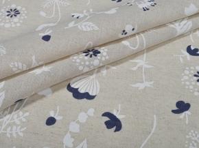 Ткань бельевая арт 2-21 п/лен кислованный рис Весенний луг, 150см