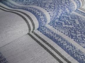 Холст полотенечный арт. 17с-12ЯК п/лен пестротканый рис. Вышивка/2 синий сорт 1, ширина 50см