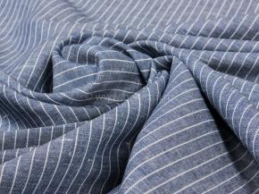 Ткань 1654ЯК п/лен рис. 4/3 6,9 темно-синий сорт 1, 150см