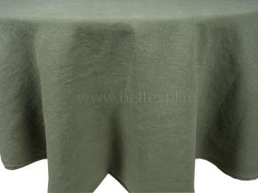 18С212-ШР/у/л.с.уп Скатерть 100% лен 8 цв. оливковый D-135