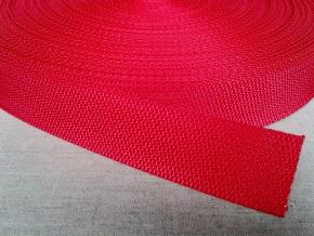 5С612-Г50 ЛЕНТА РЕМЕННАЯ красный*010, 30мм (рул.50м)