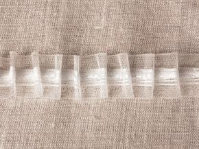 ЛЕНТА ДЛЯ ШТОР белый 20мм, параллельная сборка 1:2 (рул.50м)
