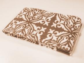 Одеяло хлопковое 140*205 жаккард 1/17 цвет коричневый