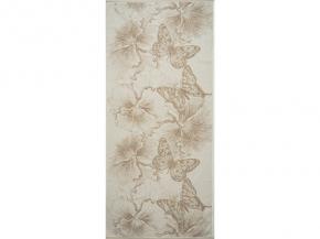 "6с102.513ж2 ""Бабочки и цветы"" Полотенце махровое 81х160см Лен+х/б"