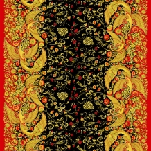 Рогожка набивная арт. 904 МАПС рис. 30043/1 Хохлома, ширина 150 см