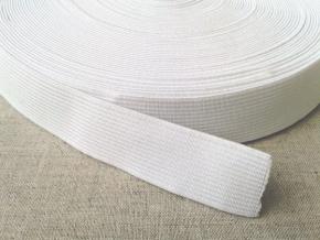 20мм. Резинка ткацкая 20мм, белая (рул.20м)