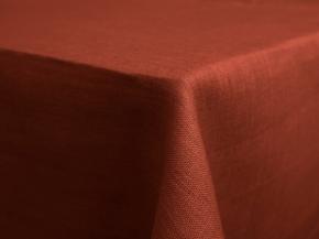 11С519-ШР 150*120 см.Скатерть 100% лен 1331 цвет терракот