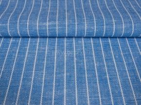 Ткань 1654ЯК п/лен пестротканый ХМ усадка рис. 4/1 6,37 голубой сорт 1, ширина 150см