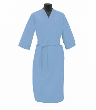 Халат вафельный женский р-р.50 цвет голубой