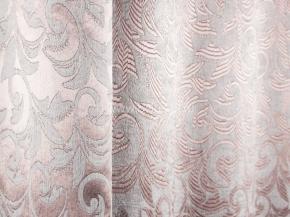Ткань блэкаут T RS 4894-01/145 PJac BL бледно-розовый на жемчужном, ширина 145см