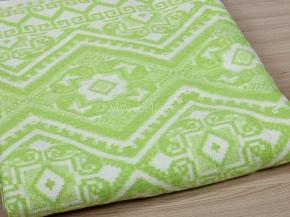Одеяло байковое 170*205 жаккард  цв.салатовый