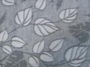 """Одеяло п/шерсть 140*205см жаккард  """"Листья"""" цвет серый"""