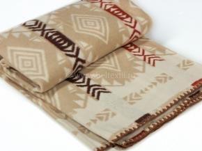 Одеяло хлопковое 200*205 жаккард  11/1 цв.бежевый Мексика