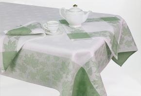 """12С520-ШР/уп. 150*150 Комплект столовый """"Листва"""" цвет зеленый"""