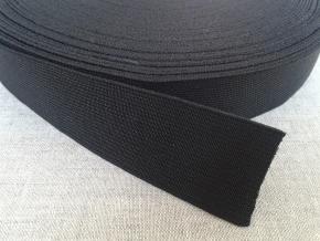 35мм. Резинка ткацкая 35мм, черная (рул.20м)