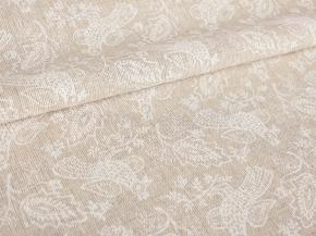 Полулен бельевой арт. 20-18 рис.1178/1 Птицы белые, ширина 150см