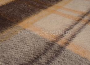 Плед 100% шерсть 170*200 цвет 31/43 коричневый с желтым