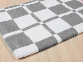 """Одеяло байковое 100*140 """"Клетка"""" цв. серый"""